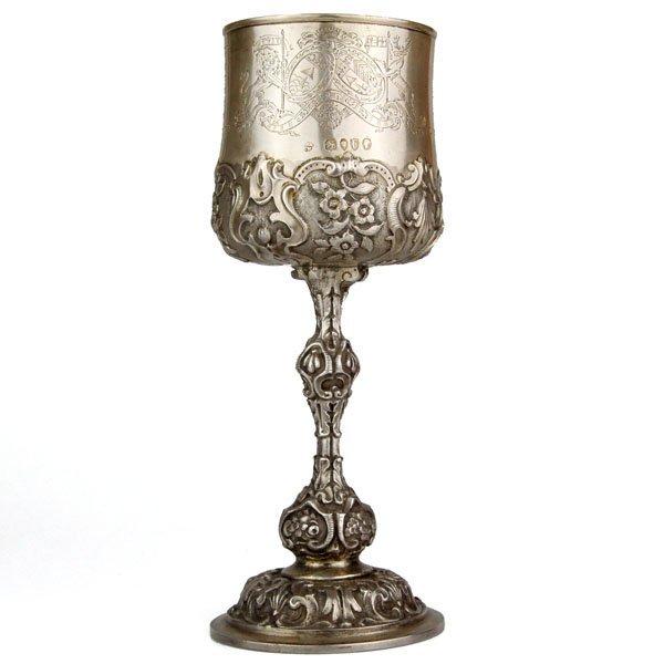 Moses Montefiore Silver Sabbath Goblet, London, 1881.
