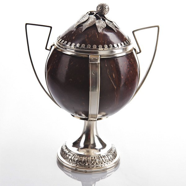 Silver Mounted Coconut Goblet Cup, Pressburg, 1819.