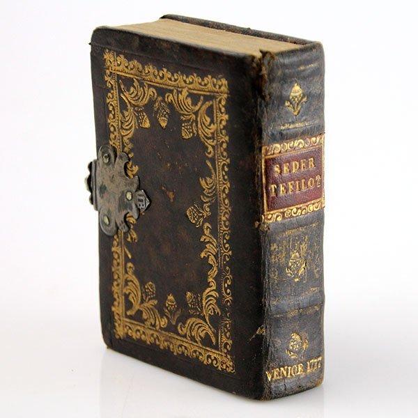 Miniature Prayer Book Original Binding Venice 1777