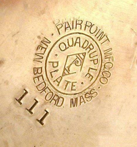 Antique Pairpoint Quadruple Plate 3pcs Tea Set - 6
