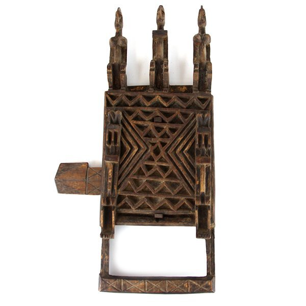 Antique African Hand Carved Wood Figural Door Lock.