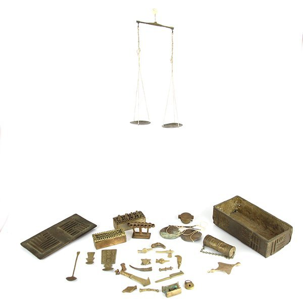 African Ashanti Gold Weighing Set