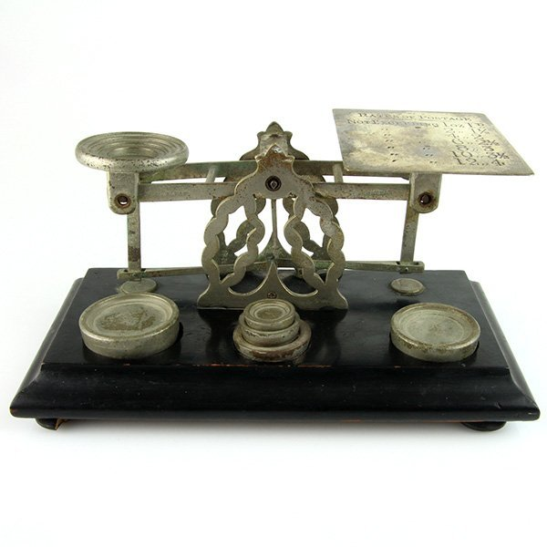 Sampson Mordan Postal Scale & Weights Set London Ca1880