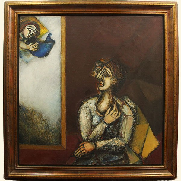 Shmuel Boneh - Revelation, Oil on Canvas Painting.