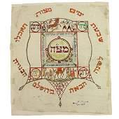 Zeev Raban Bezalel Original Sketch Passover Seder Plate