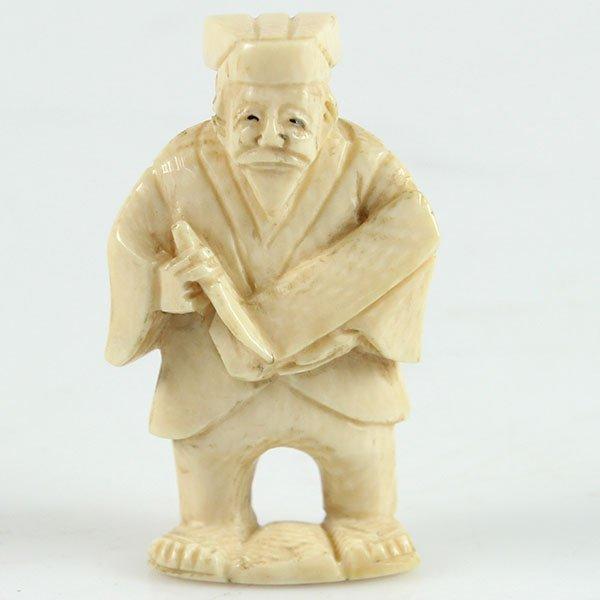 Antique Japanese Carved Ivory Netsuke.