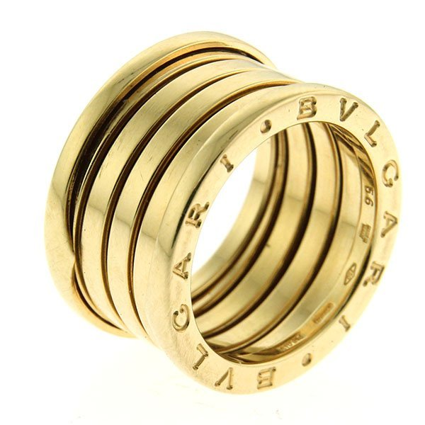 Bvlgari 18k Yellow Gold B.zero1 4-Band Ring.