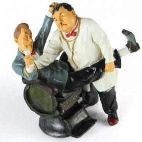 Laurel And Hardy Dentist Figures.