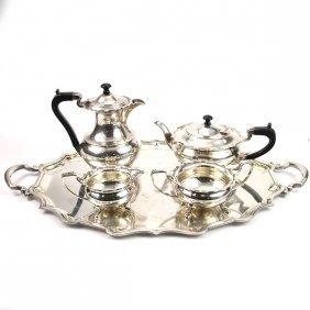Elkington & Co Silver Plated Tea Coffee Set, 1937.