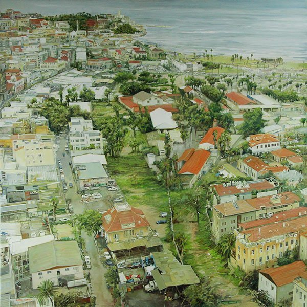 Nurit Shany - Tel Aviv - Jaffa, Oil on Canvas Painting.