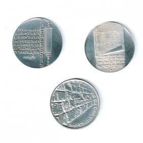 3 Silver Israel Coins.