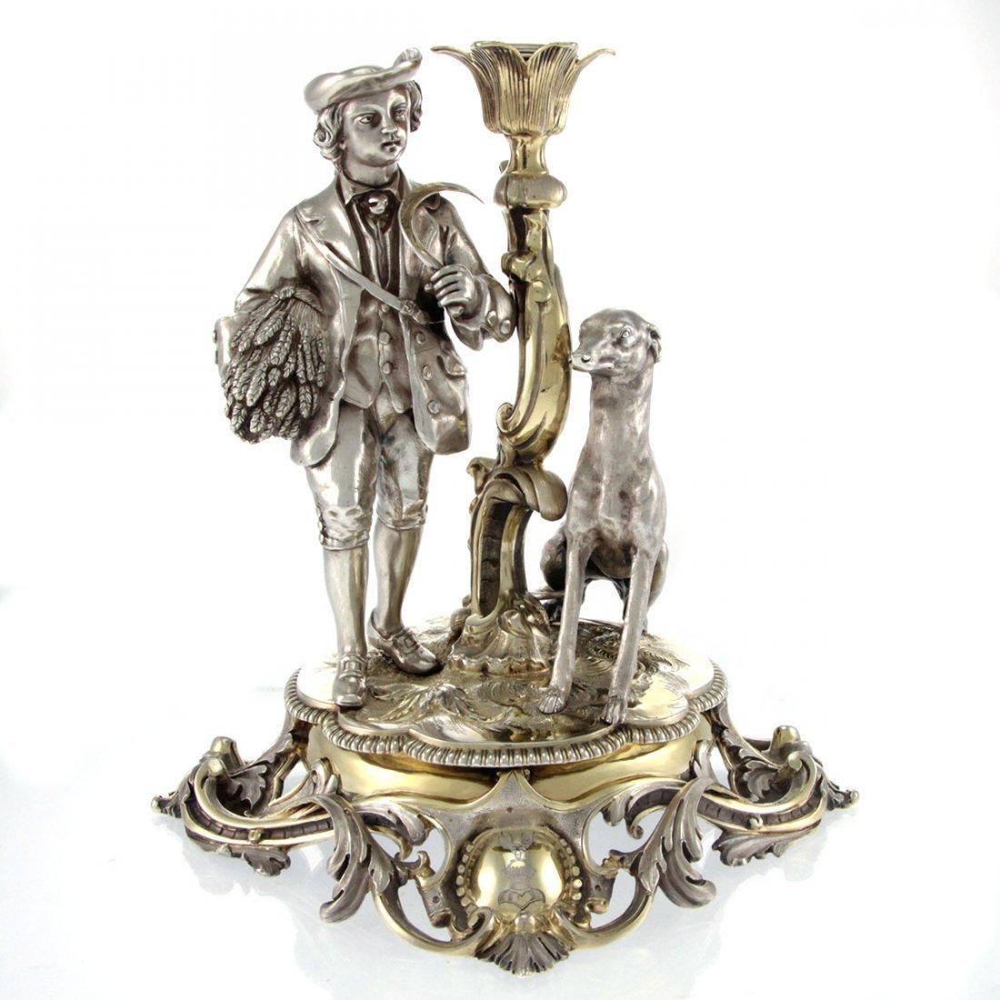 RARE Sterling Silver Centerpiece Smith & Nicholson 1861