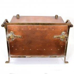 Antique Copper And Brass Laboratory Oven Incubator.