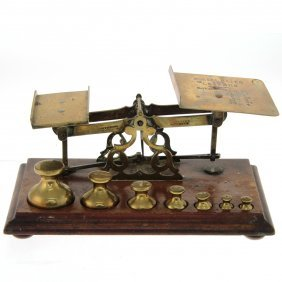 Johnson Bros Brass Postal Scale Birmingham Circa 1880