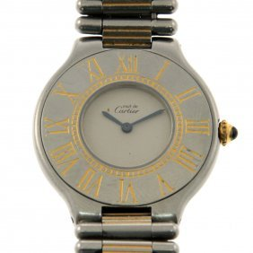 Must De Cartier Lady's Wrist Watch.
