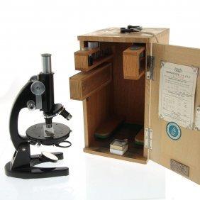 Zeiss Winkel Microscope, Wooden Case.