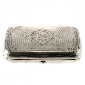 Russian Silver Cigarette Case, Moscow, 1888.