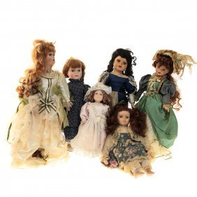 Lot Of 6 Porcelain Dolls.