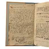 Amarot Tehorot Book, With Manuscript, Chernivtsi, 1860.