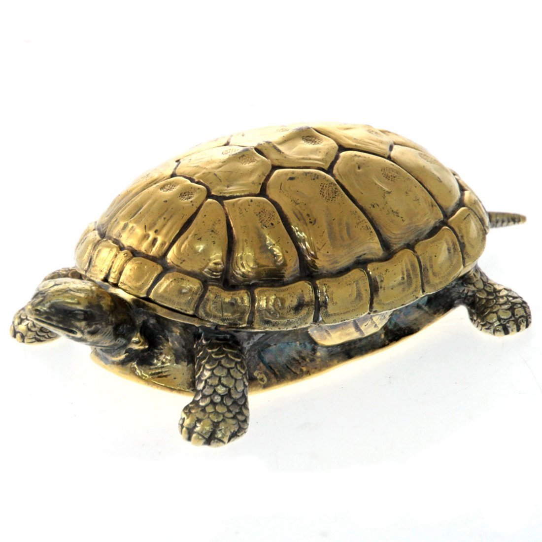 Tiffany & Co Gilt Sterling Silver Turtle Box.