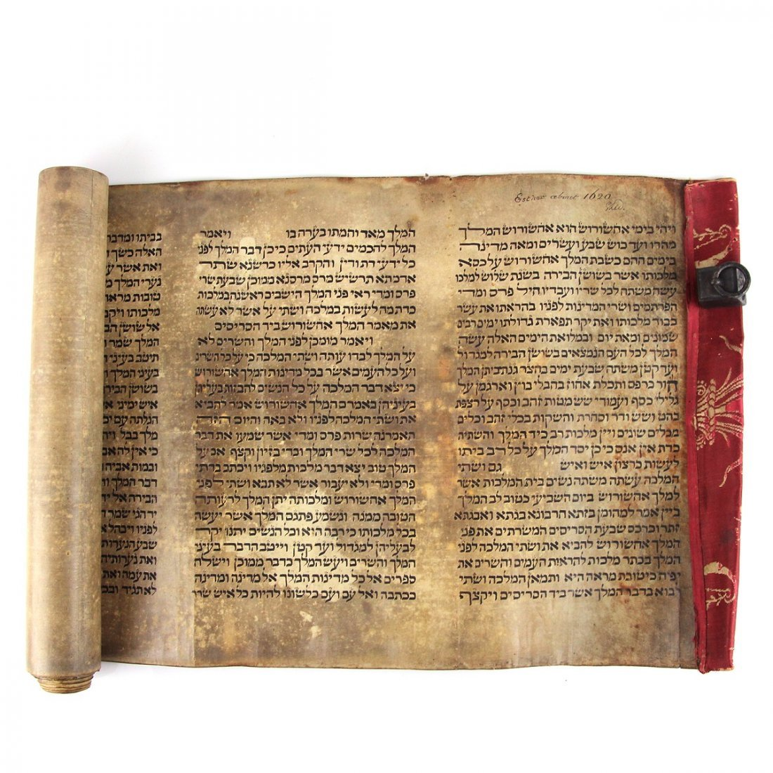 Esther Scroll on Parchment Southern Europe 17th Century