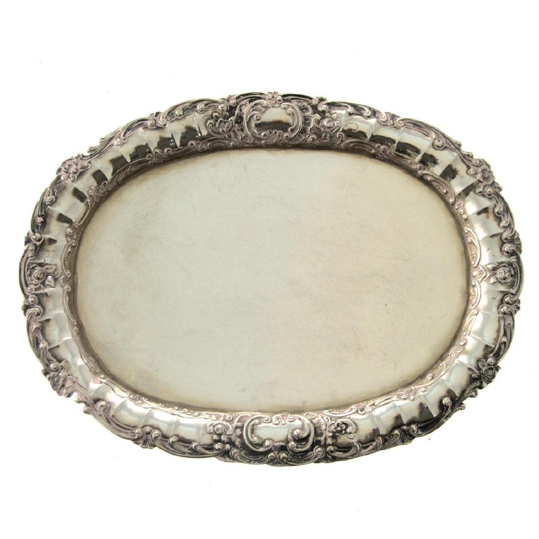 Silver Oval Tray, Germany, Circa 1900.