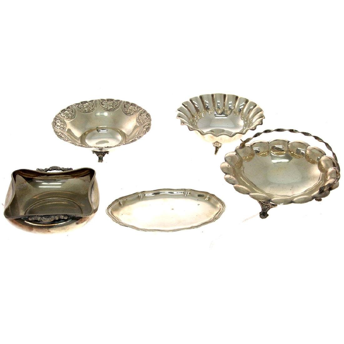 Lot of Five Silver Items.