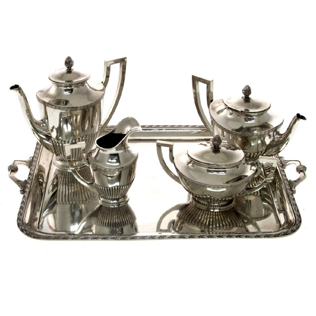 Russian Silver Tea and Coffee Set, 1908-1917.
