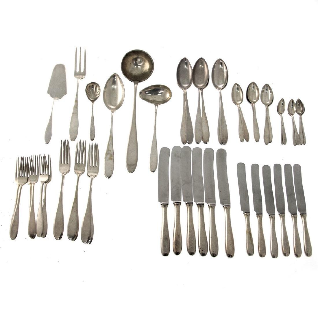 Silver Flatware Set for 6, 48pcs, Krakow, Poland,