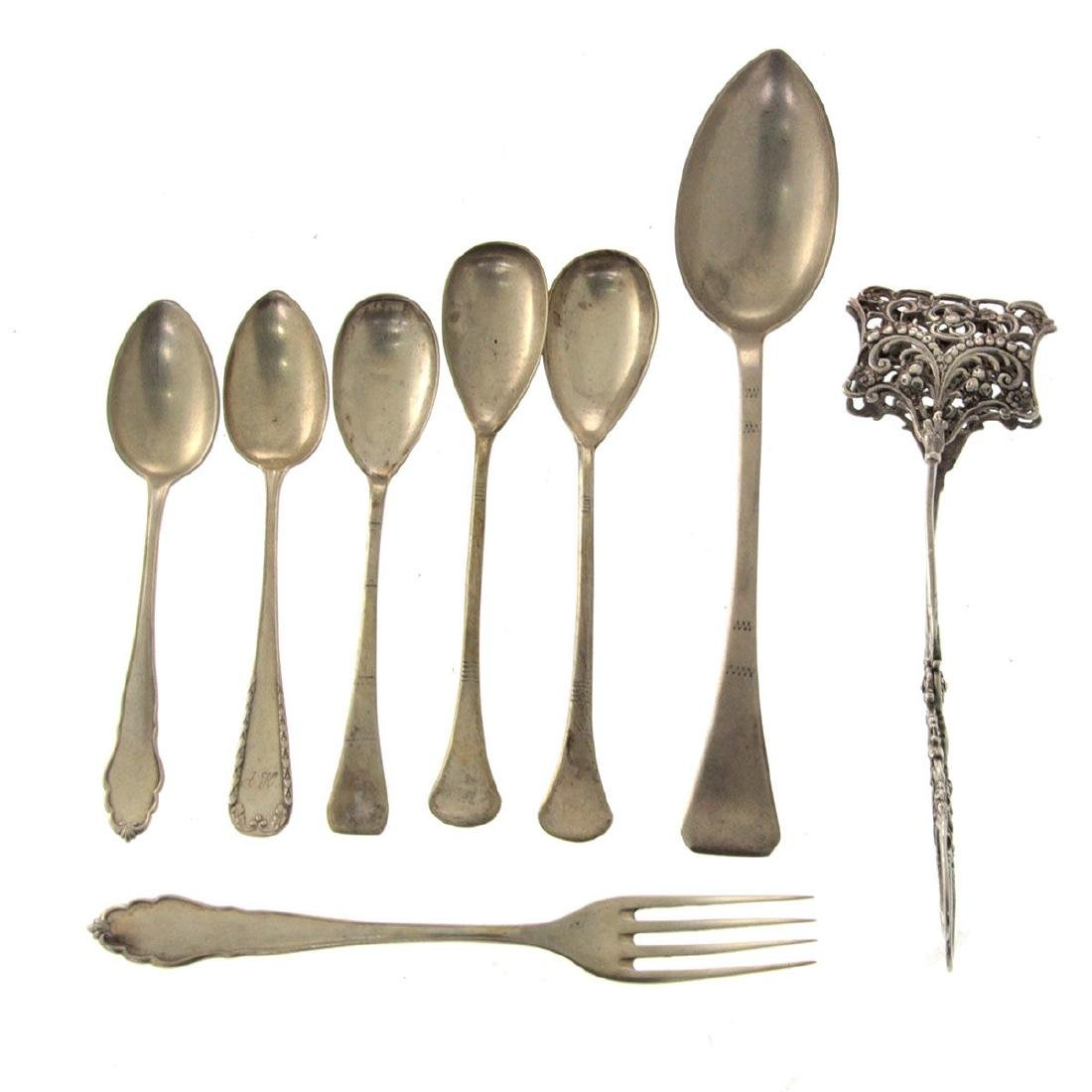 Lot of Silver Flatware.