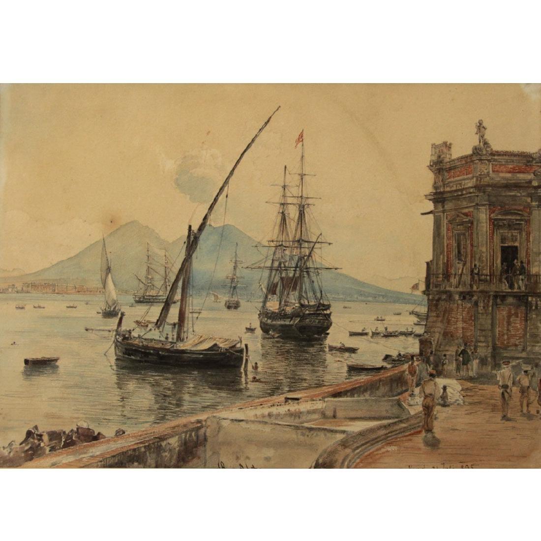 Rudolf Von Alt (1812-1905) - Watercolor on Paper.