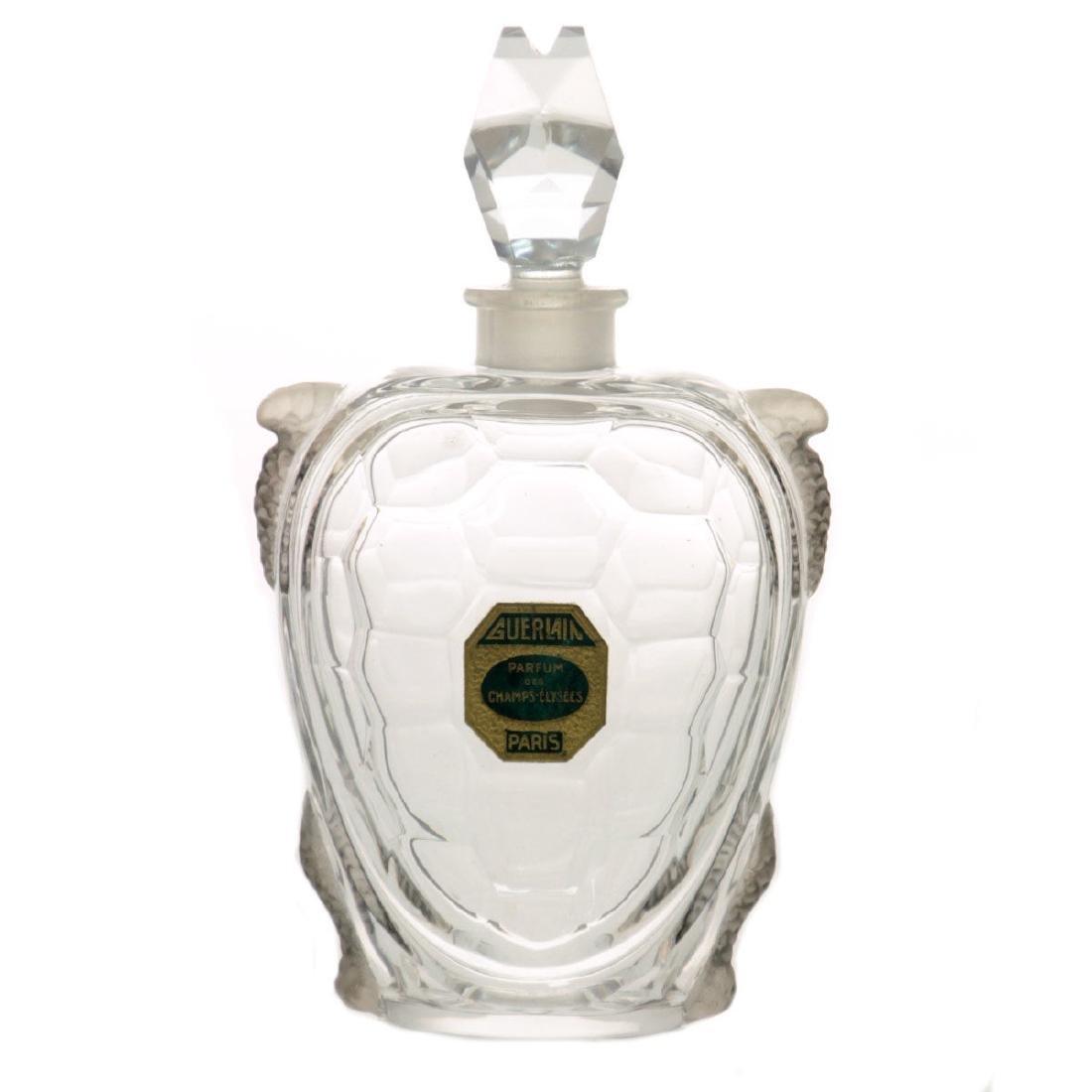 Baccarat for Guerlain Turtle Figure Perfume Bottle,
