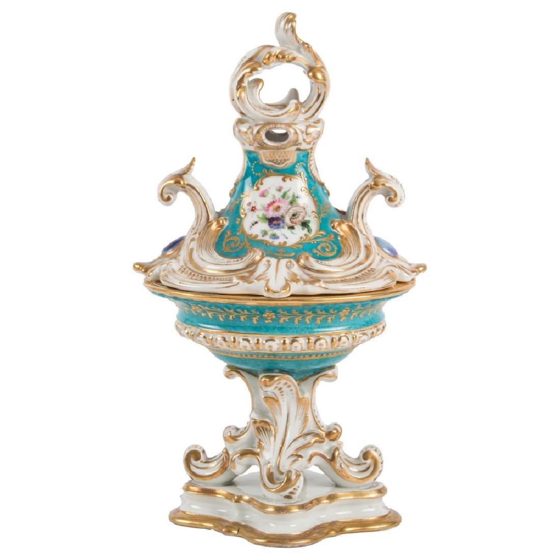 VASETTO con coperchio Luigi Filippo in porcellana