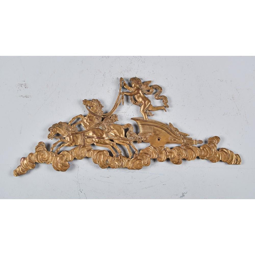 """FREGIO in bronzo raffigurante """"Biga trainata da cavalli"""
