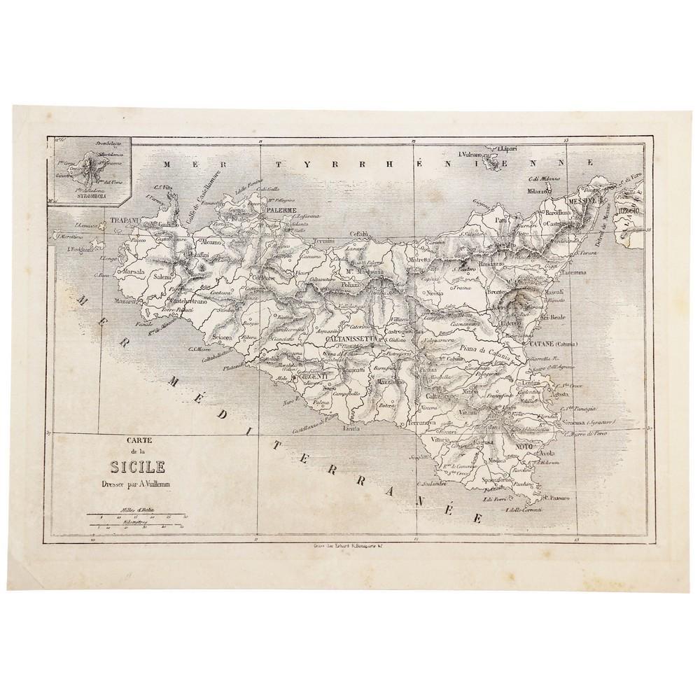 1860 VUILLEMIN ALEXANDRE (1812 - 1880) LITOGRAFIA in