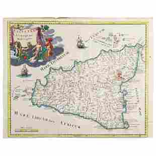 1721 ca CLUVER PHILIPP 1580 1622 MOLL HERMAN 1654