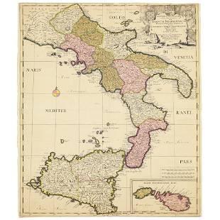 1703 SCHENK PIETER 1655 1718 ca INCISIONE colorata