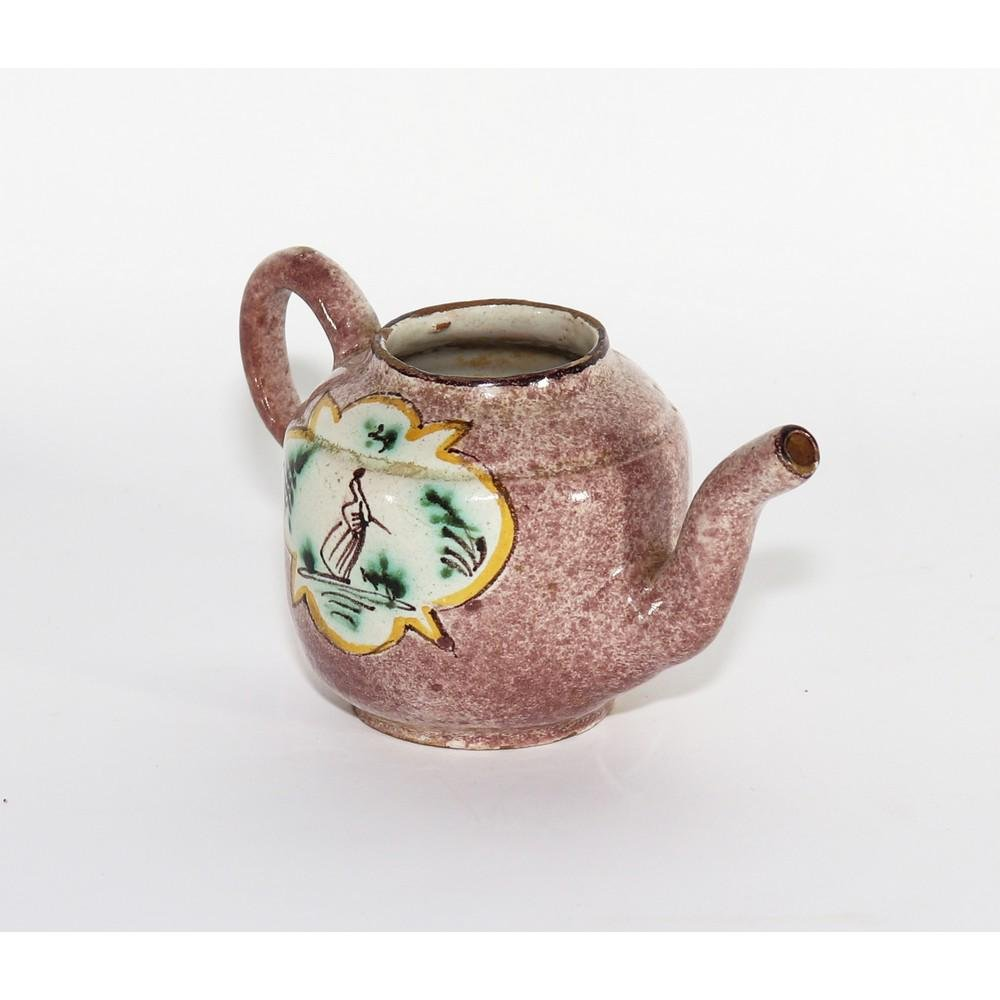 PICCOLA THEIERA in ceramica smaltata e decorata. Savona