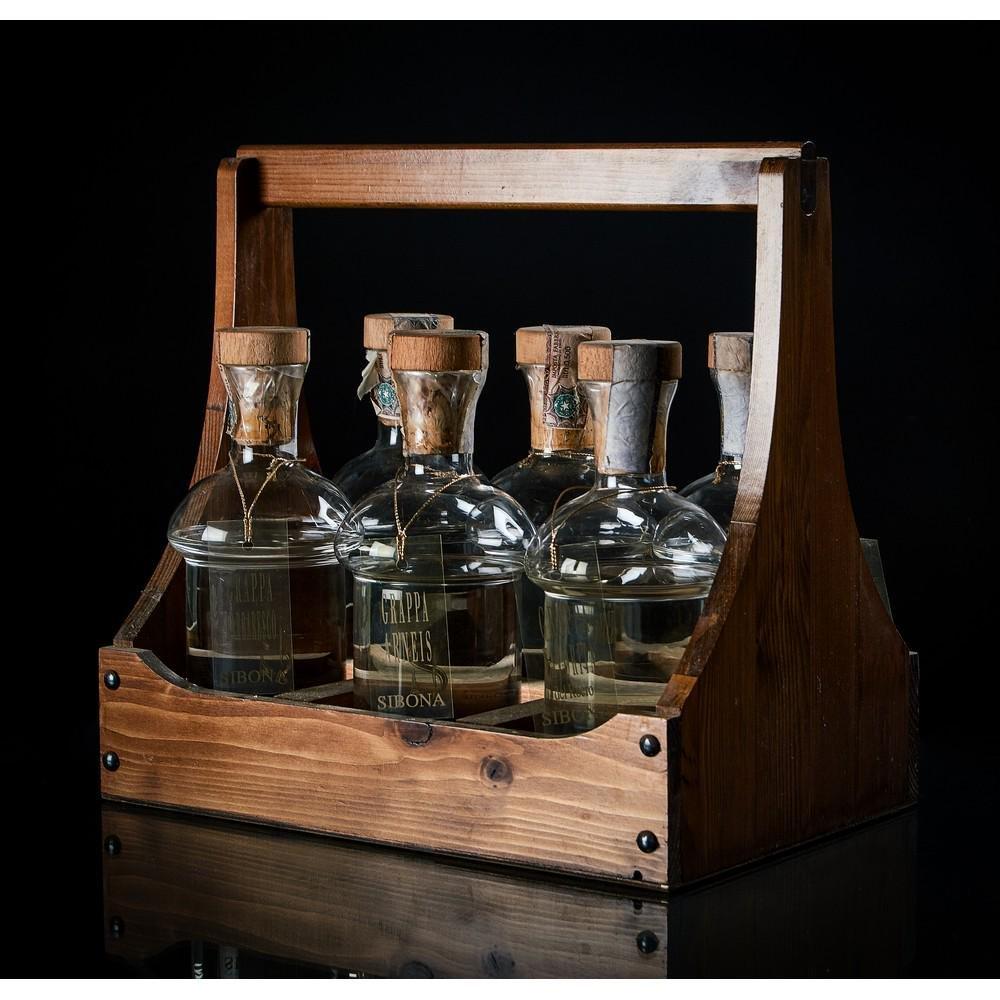 Sibona, Selezione di 6 bottiglie di grappa da 50 ml