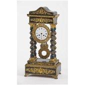 OROLOGIO a tempietto Napoleone III in legno ebanizzato,