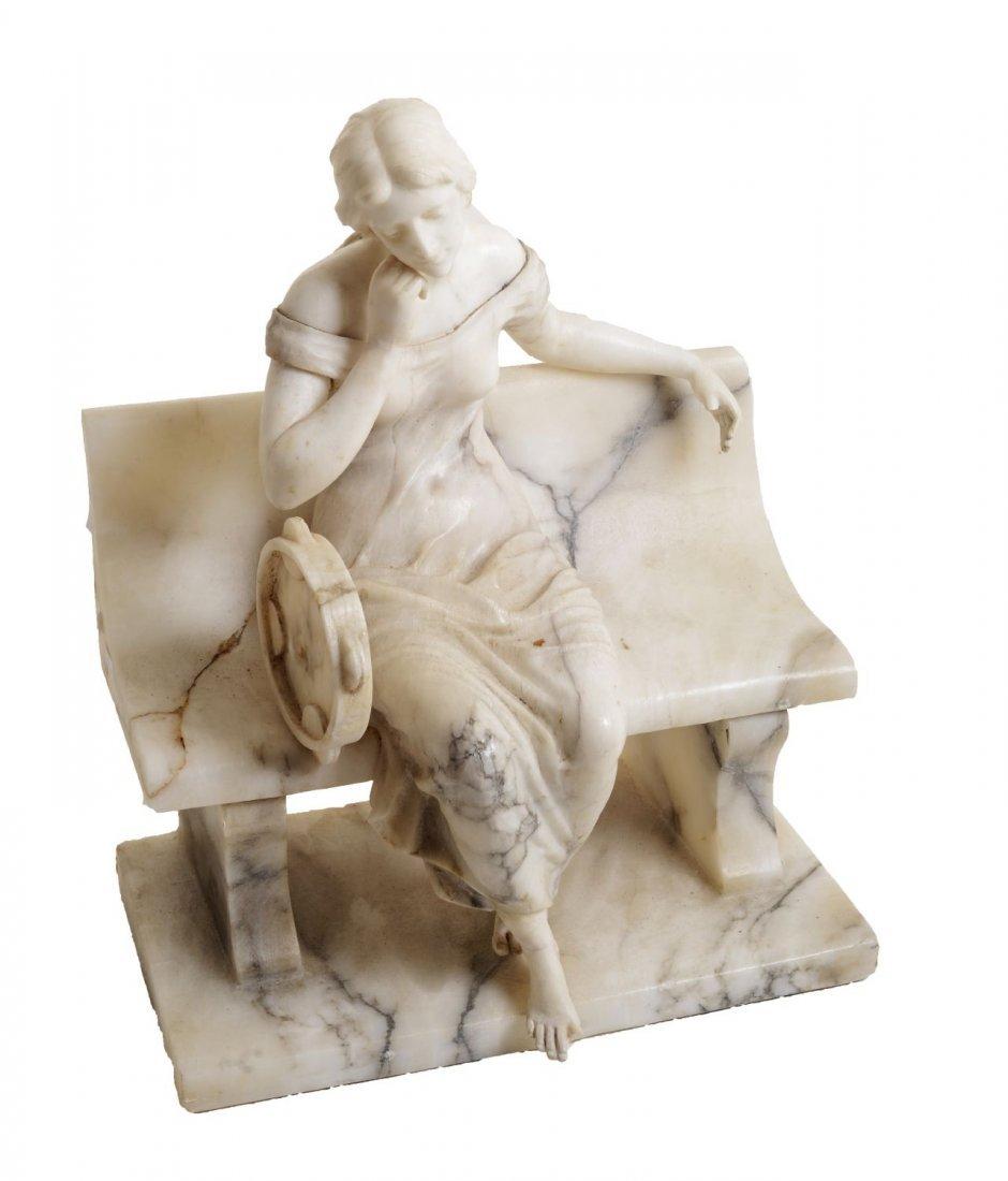 GUGLIELMO PUGI (1875 - 1935) SCULTURA in marmo bianco