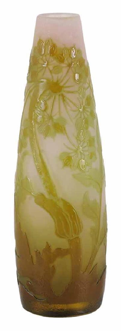 Emile Gallé Cameo Glass Bud Vase