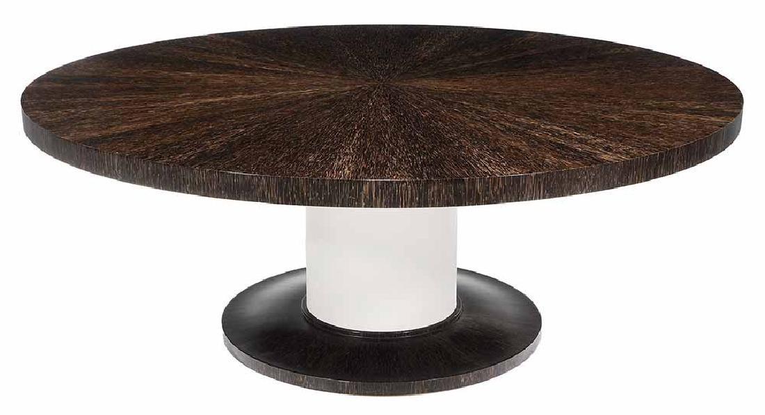 Art Deco Style Palmwood-Veneered and