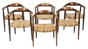 """Set of Six Hans Wegner """"Round"""" Chairs"""
