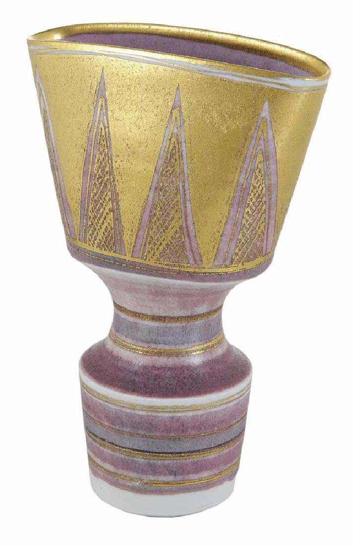 Mary Rich Pink and Gold Porcelain Vase