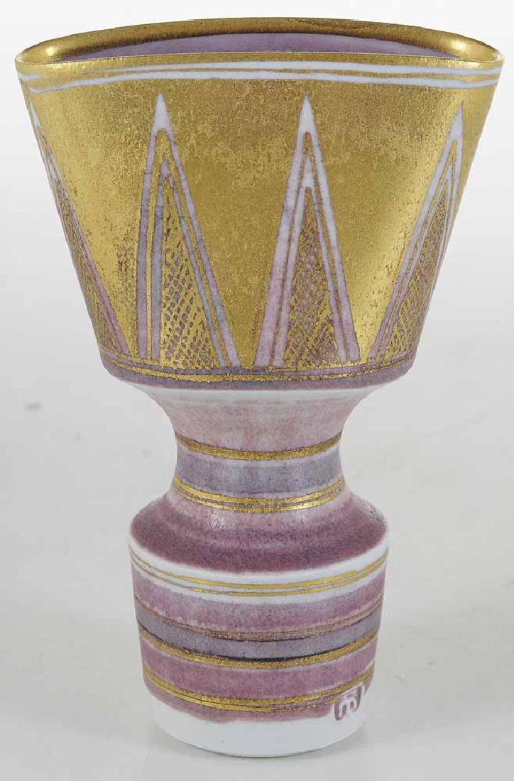 Mary Rich Pink and Gold Porcelain Vase - 2