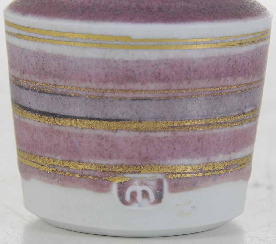 Mary Rich Pink and Gold Porcelain Vase - 4