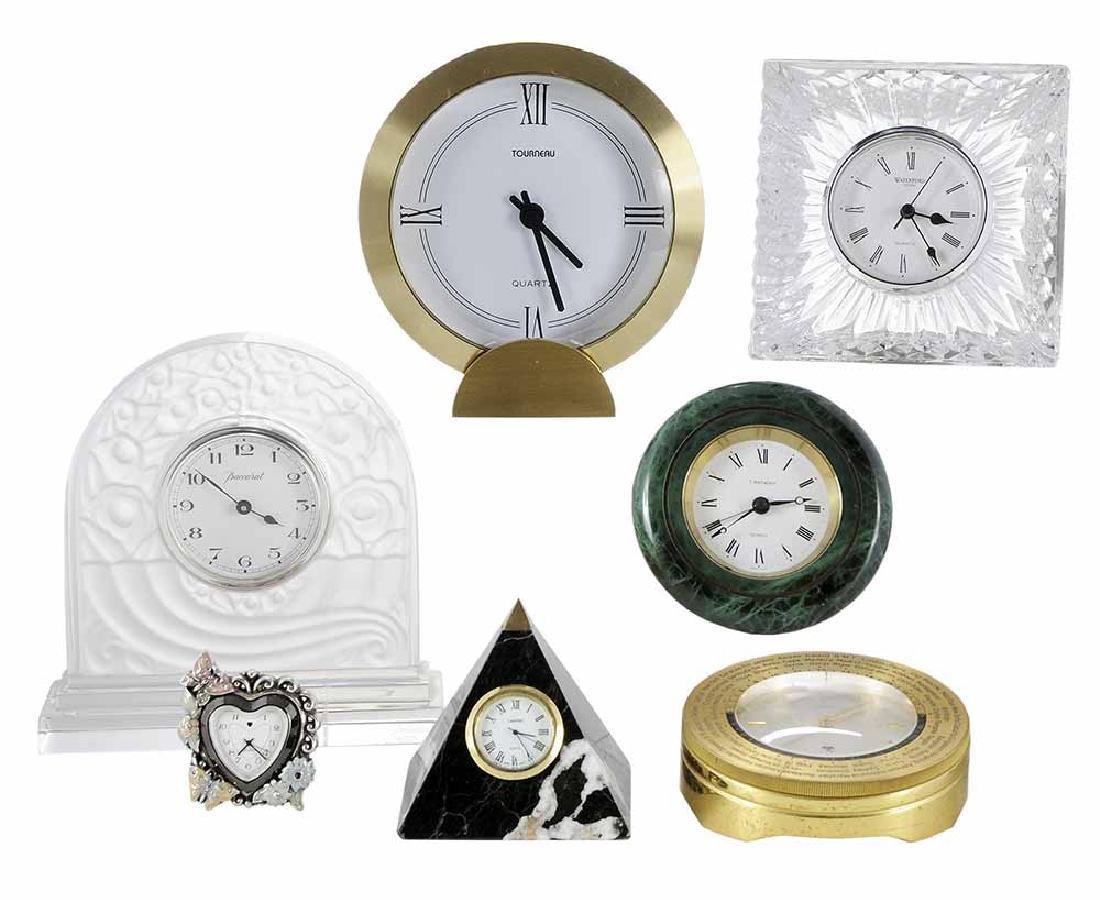 Seven Table Clocks