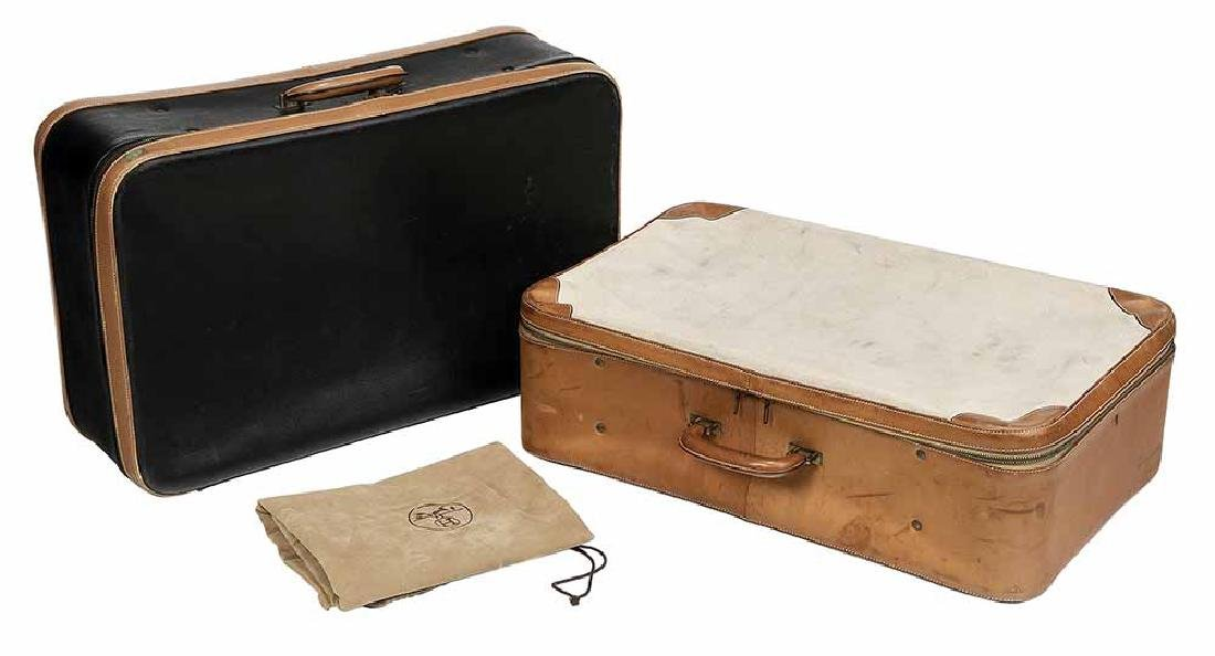 Two Vintage Hermes Paris Suitcases