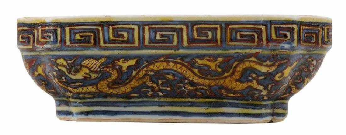 Wucai Porcelain Covered Dragon Box